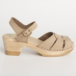 New Sven by No. 6 Square Accent Sandal Clogs 38/8